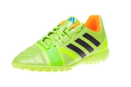 adidas: Varna , Bulgaria - JULY 6, 2016 : ADIDAS NITROCHARGE soccer shoe. Isolated on white. Product shots