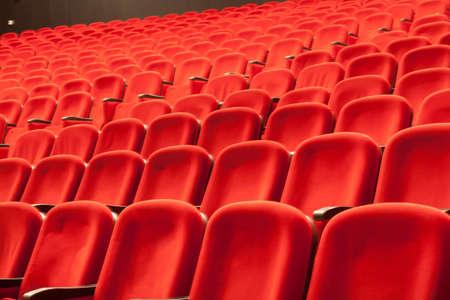 empty red cinema or theatre seats