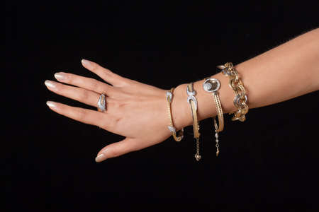 Female hand with jewelry