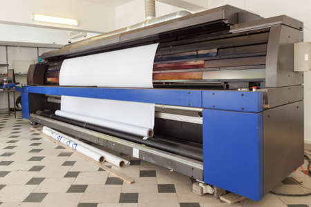 professional printing machine in printing house 写真素材