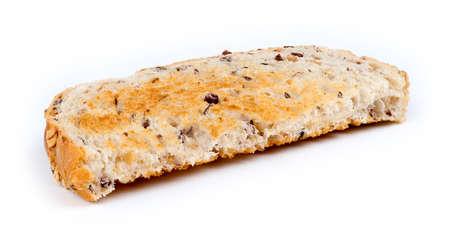 multi grain sandwich: Macro of multi-grain toast isolated against white