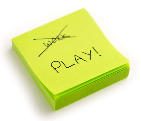 harder: Crossed out work with large play in print on notepad Stock Photo