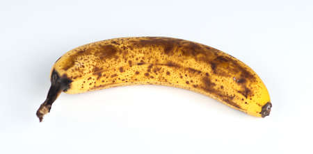 overripe: Closeup of an over-ripe Australian banana Stock Photo