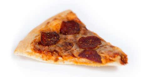 stale: Stale pepperoni pizza slice