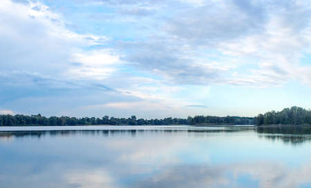 georges: Panoramic view of Chipping Norton lake in Sydney, New South Wales, Australia Stock Photo