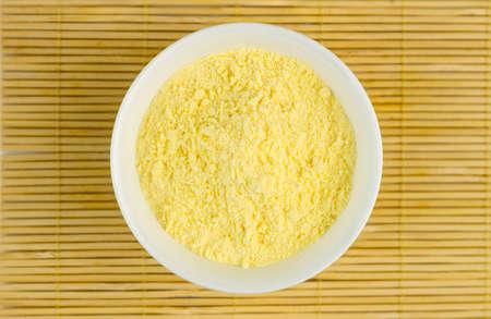 maize flour: Aerial closeup of maize flour
