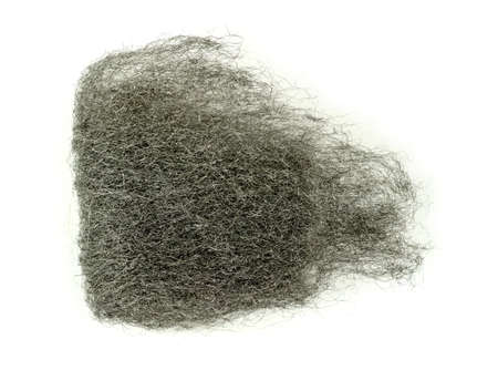 steel wool: Bunch of steel wool isolated on white