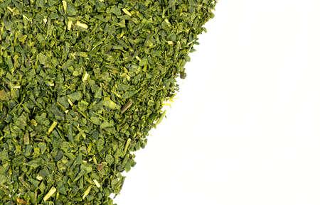 loose leaf: Hojas sueltas t� verde textura de fondo Foto de archivo