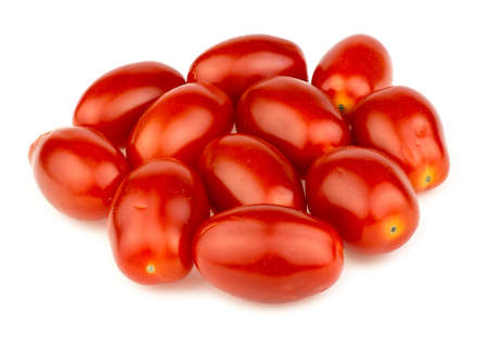 Pile of red grape tomatoes isolated on white in studio Imagens - 34971957
