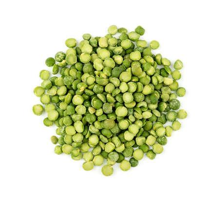 Pile of colorful vegetarian green split peas Imagens