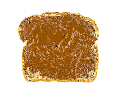 wheat toast: Whole wheat toast with chocolate hazelnut spread Stock Photo