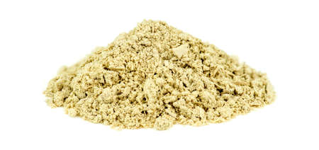 sedative: Pile of kava kava root isolated on white