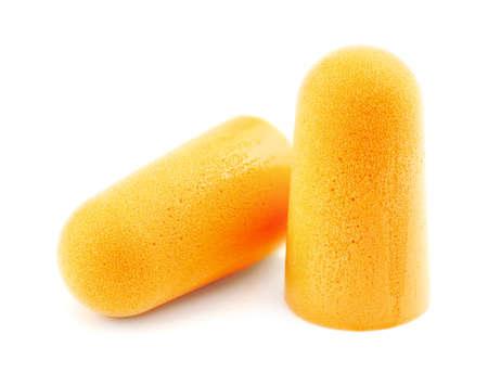 Macro closeup of pair of extra strong ear plugs