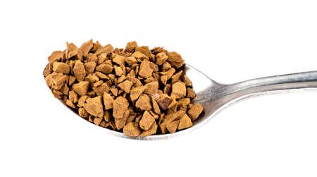instant coffee: Teaspoon of instant coffee Stock Photo
