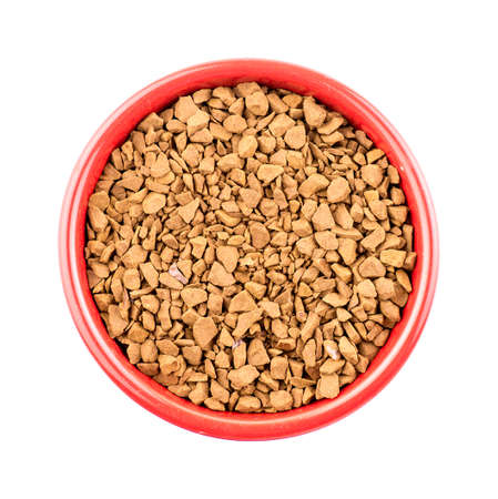 instant coffee: Bowl of instant coffee granules Stock Photo