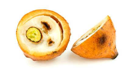 half cut: Half cut achacha fruit isolated on white