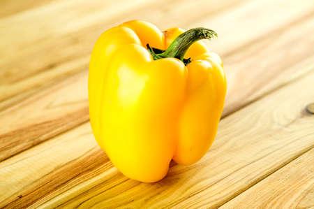 yellow block: Yellow pepper on chopping block