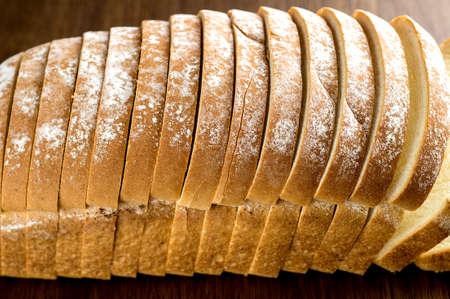 Slices of bread Imagens