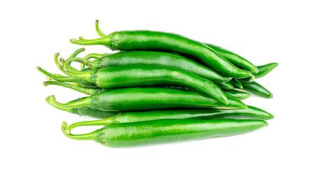 capsicum: Heap of green capsicum pepper Stock Photo