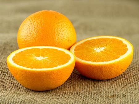 naranja fruta: Mitades de la fruta de naranja