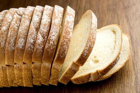 Rustic macro of sliced bread loaf Imagens - 45466272