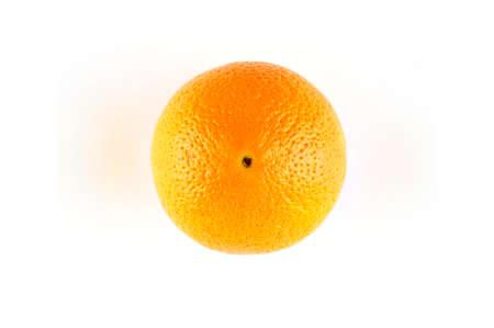 naranja fruta: Macro aislada de una fruta de naranja Foto de archivo
