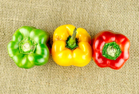 pimiento: Top view of colorful capsicum Stock Photo