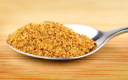 coconut sugar: Spoon of natural coconut sugar Stock Photo