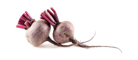 juicing: Fresh beetroots for juicing isolated on white Stock Photo