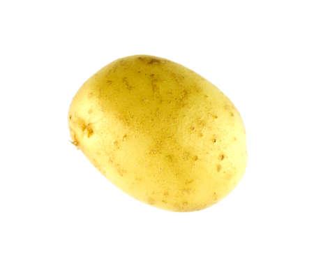 Yellow potato isolated on white