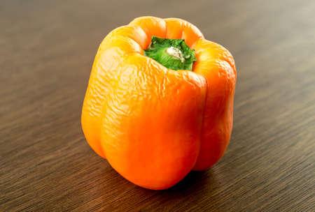Overripe orange bell pepper capsicum