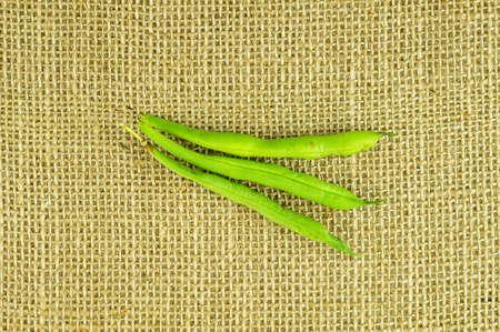 Aerial of crisp snap beans Imagens