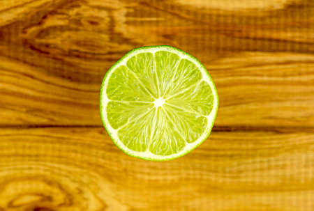 Segment of light green lime citrus fruit Imagens