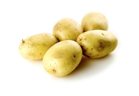 High carb diet potatoes isolated against white background