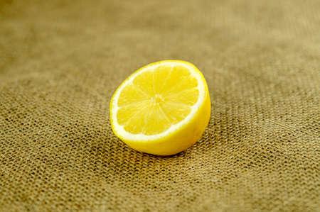 juicing: Lemon half ready for juicing