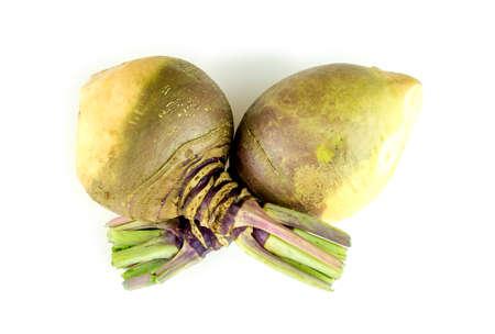 Swedish turnips with stalks