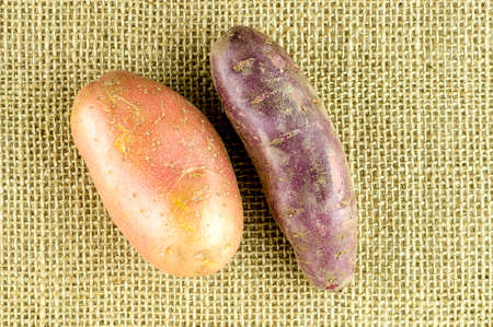 red skinned: Red skinned potatoes and purple sweet potato