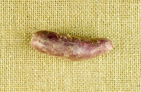 Aerial view of purple sweet potato