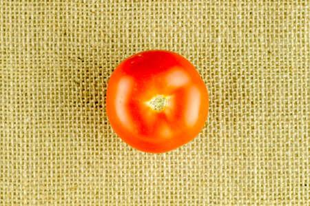Aerial of fresh ripe red tomato Imagens