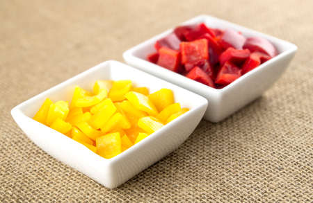 Mildy spicy yellow pepper and red peppers Imagens