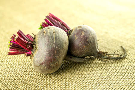Closeup of whole sweet beetroots