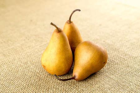 Pile of sweet juicy bosc pears