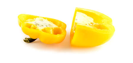 Large cut pieces of mild flavored yellow bell pepper