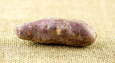 sweet potato: Entera cruda camote morado