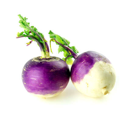 globular: Wholesome organic turnips isolated