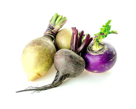 rutabaga: Pile of taproot veggies beetroot, swedish turnips and white turnip
