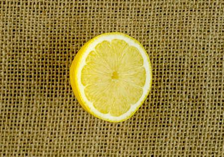 flesh colour: Small half section of lemon