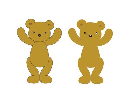 stocky: brown bear on a white backgroun Illustration
