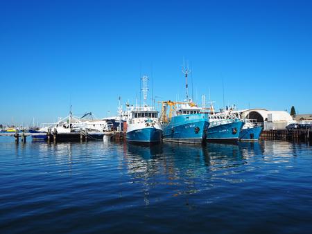 フリー マントル、オーストラリア 2015、港で漁船