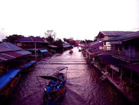 amphawa: Amphawa market canal, floating market and cultural Thailand.